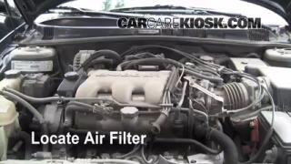 1999-2004 Oldsmobile Alero Engine Air Filter Check