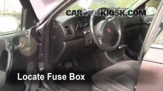 Interior Fuse Box Location: 2000-2005 Saturn LS2