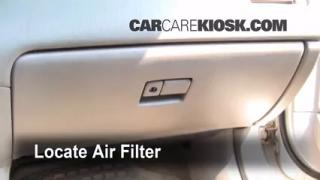 Cabin Filter Replacement: Toyota Avalon 2000-2004