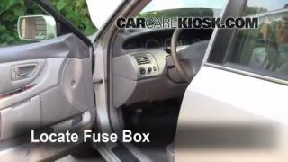 Interior Fuse Box Location: 2000-2004 Toyota Avalon