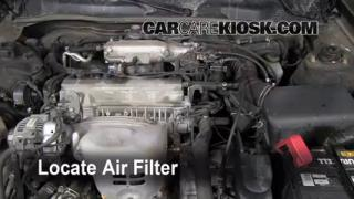 1999-2003 Toyota Solara Engine Air Filter Check