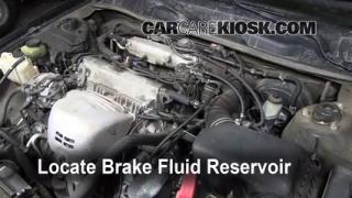 1999-2003 Toyota Solara Brake Fluid Level Check