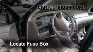 Interior Fuse Box Location: 1997-2001 Toyota Camry