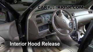Open Hood How To 1997-2001 Toyota Camry