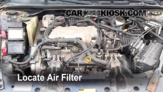 2000-2005 Chevrolet Impala Engine Air Filter Check