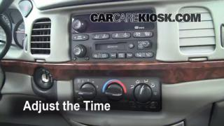 How to Set the Clock on a Chevrolet Impala (2000-2005)