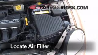 2000-2005 Dodge Neon Engine Air Filter Check