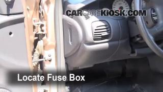 Interior Fuse Box Location: 2000-2005 Dodge Neon
