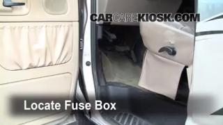 Interior Fuse Box Location: 1990-2007 Ford E-350 Club Wagon