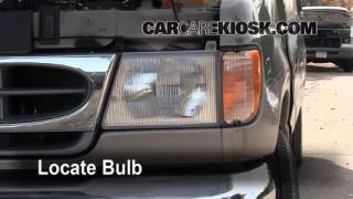 Highbeam (Brights) Change: 1990-2007 Ford E-150 Econoline Club Wagon