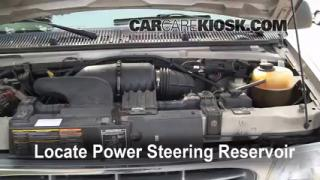Follow These Steps to Add Power Steering Fluid to a Ford E-150 Econoline Club Wagon (1990-2007)