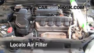 2001-2005 Honda Civic Engine Air Filter Check