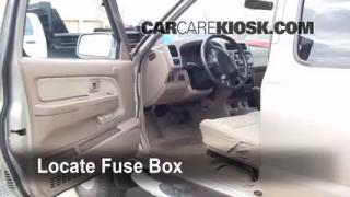 Interior Fuse Box Location: 1998-2004 Nissan Frontier