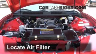1993-2002 Pontiac Firebird Engine Air Filter Check