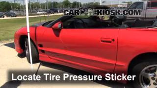 Properly Check Tire Pressure: Pontiac Firebird (1993-2002)