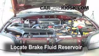 Add Brake Fluid: 2000-2004 Subaru Outback