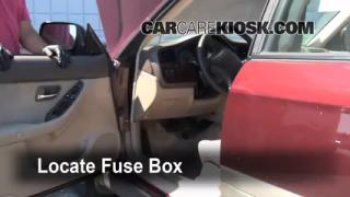 Interior Fuse Box Location: 2000-2004 Subaru Outback