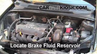 2000-2005 Toyota Echo Brake Fluid Level Check