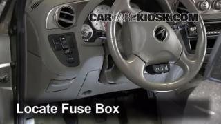 Interior Fuse Box Location: 2002-2006 Acura RSX