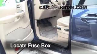 Interior Fuse Box Location: 1999-2003 Ford Windstar
