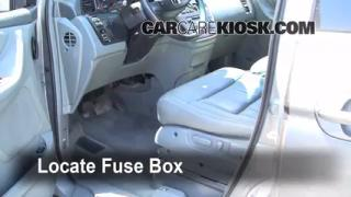 Interior Fuse Box Location: 1999-2004 Honda Odyssey
