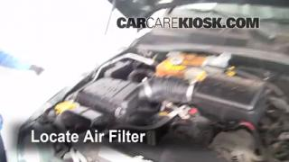 2002-2007 Jeep Liberty Engine Air Filter Check