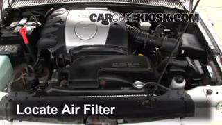 1995-2002 Kia Sportage Engine Air Filter Check