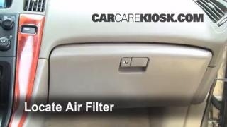 Cabin Filter Replacement: Lexus RX300 1999-2003