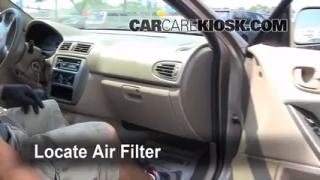 Cabin Filter Replacement: Mitsubishi Galant 1999-2003