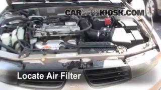 1999-2003 Mitsubishi Galant Engine Air Filter Check