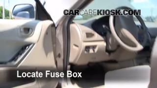 Interior Fuse Box Location: 1999-2003 Mitsubishi Galant