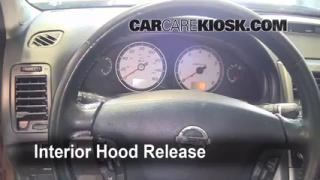 Open Hood How To 2000-2003 Nissan Maxima