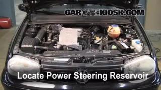 Follow These Steps to Add Power Steering Fluid to a Volkswagen Cabrio (1995-2002)