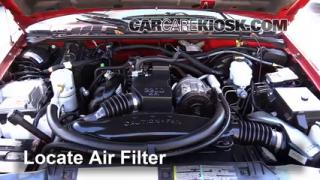 1994-2004 Chevrolet S10 Engine Air Filter Check
