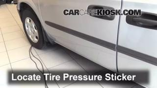 Properly Check Tire Pressure: Dodge Caravan (2001-2004)