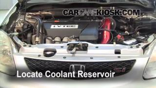 Coolant Level Check: 2001-2005 Civic