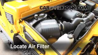 2003-2009 Hummer H2 Engine Air Filter Check
