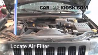 1999-2004 Jeep Grand Cherokee Engine Air Filter Check