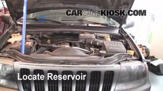 Check Windshield Washer Fluid Jeep Grand Cherokee (1999-2004)