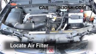 2003-2007 Saturn Ion Engine Air Filter Check