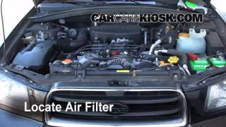 1998-2002 Subaru Forester Engine Air Filter Check