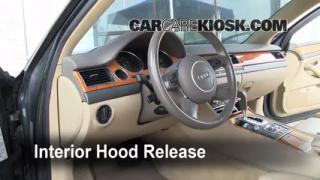 Open Hood How To 2004-2010 Audi A8 Quattro