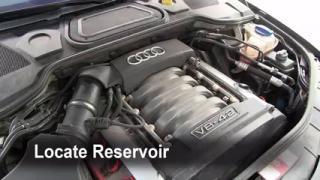 Check Windshield Washer Fluid Audi A8 Quattro (2004-2010)