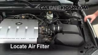 2000-2005 Cadillac DeVille Engine Air Filter Check