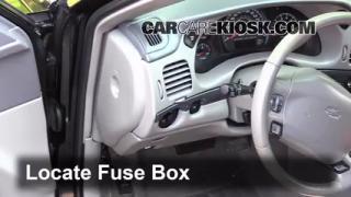 Interior Fuse Box Location: 2000-2005 Chevrolet Impala