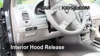 Open Hood How To 2004-2008 Chevrolet Malibu