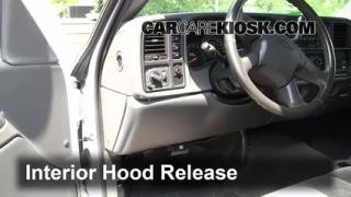 Open Hood How To 1999-2007 Chevrolet Silverado 1500