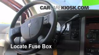 Interior Fuse Box Location: 2004-2009 Dodge Durango