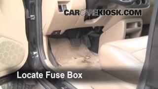 Interior Fuse Box Location: 2001-2004 Ford Escape