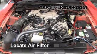 1994-2004 Ford Mustang Engine Air Filter Check
